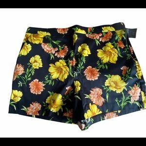 Forever 21+  Black Floral Shorts 0X